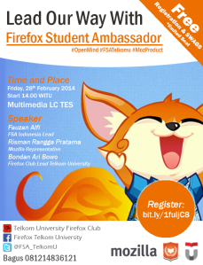 Open Mind Firefox Student Ambassador Telkom University | mmufidluthfi